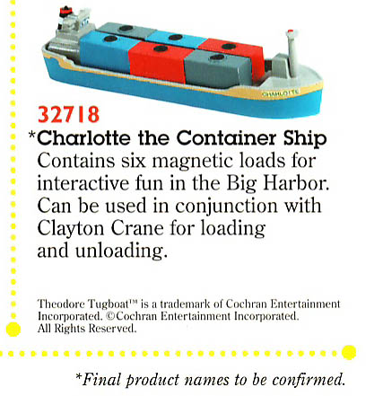 #32718 Charlotte the Container Ship